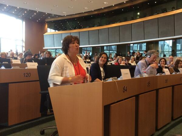 """""""We have 50 percent women in the newly elected @TheProgressives"""", proudly announced by @zgurmai_EN Excellent job! #EP http://t.co/UWH7p4FGov"""