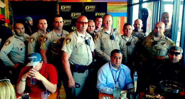 So many of @LVMPD's finest at Stacks and Yolks today. Thank you to each and every one of you! #VegasUnited http://t.co/1JYA8xDCWs