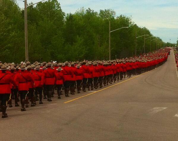 Astonishing. RT @StuntmanStu: From the funeral in Moncton.. wow #RCMP http://t.co/VuEI5b3dGg