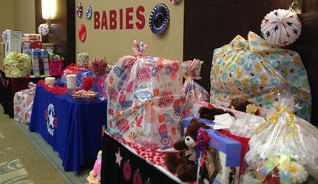 Military Wives Moms Treated To Star Spangled Baby Shower