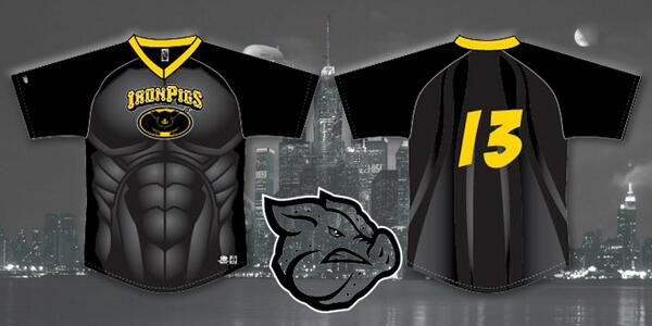 EXCLUSIVE: We have images of the new Batman costume! See it on-field Friday, June 20th for Superhero Night. http://t.co/4lJKRfr69Q