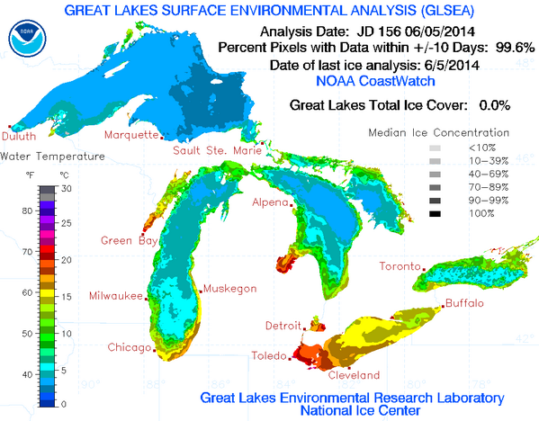 After 2,000+ hrs of ice-breaking ops, the #GreatLakes are finally ice free for 1st time in 7 mos! @USCGGreatLakes http://t.co/9Uk4cSjcAb