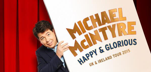 Check back here tomorrow 9am for pre-sale ticket news about Michael McIntyre's 2015 Tour! #HappyAndGlorious http://t.co/zqjSLbPnkk