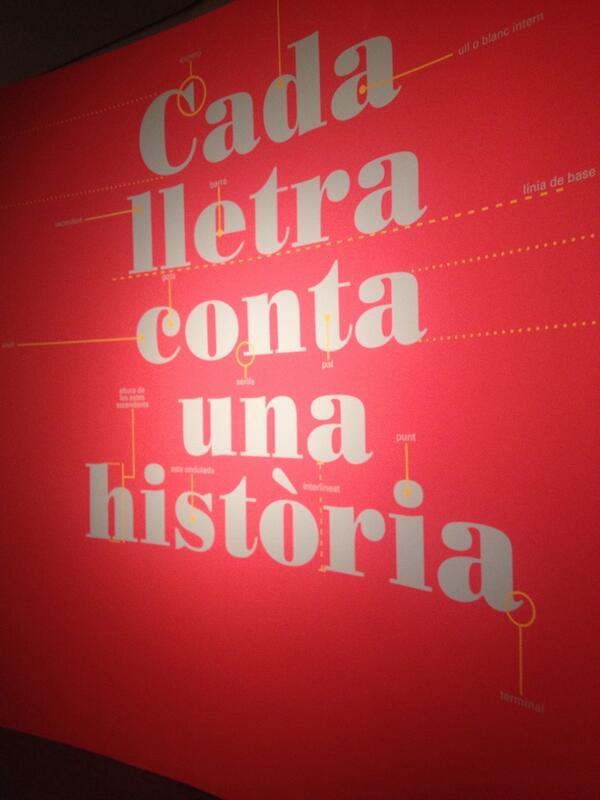 """En la Expo """"Cada letra cuenta en el MuVIM - Valencia #tipografia http://t.co/07rzOd3tJ6"""