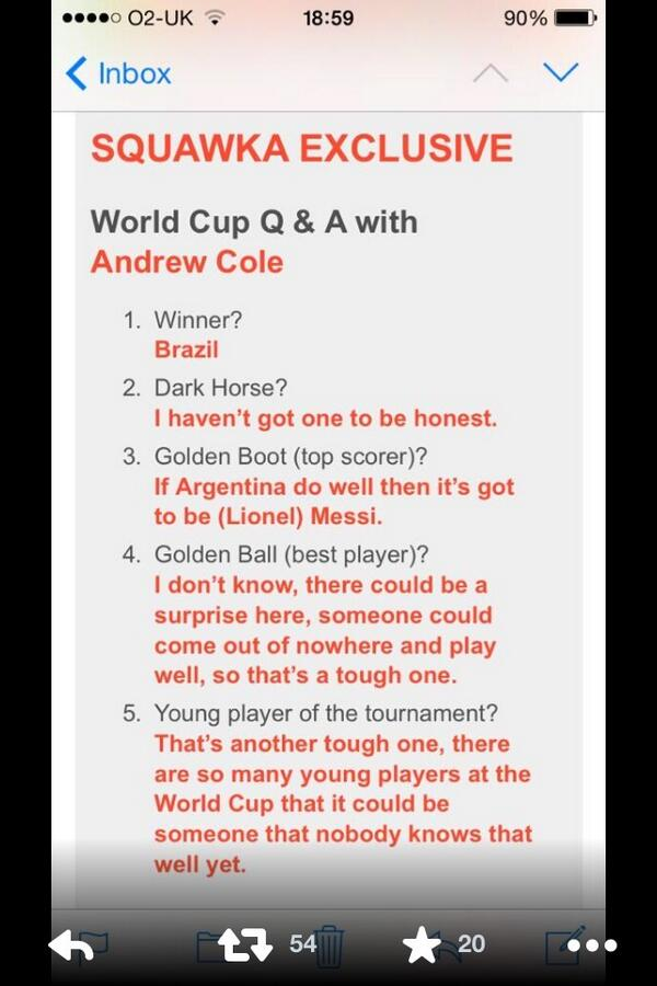 This is the sort of insight that Andrew 'Andy' Cole/Andy 'Andrew' Cole is bringing to the World Cup party http://t.co/b9yDyAoveu