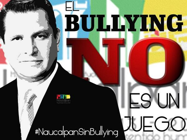 Somos una sola voz. ¡No más violencia en las escuelas!. Reporta al 01800-5814906, por un #NaucalpanSinBullying http://t.co/R2y1pLt8Dq