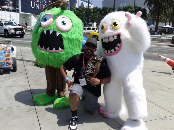 Check it out! BBB's @SingingMonsters is at #E32014! #MySingingMonsters http://t.co/TwDEUBgQL3