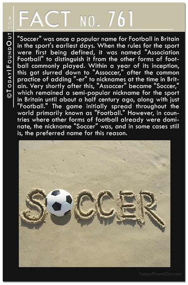 """Finally an explanation for the whole """"soccer"""" vs. """"football"""" thing. http://t.co/T8GqkjaApV"""