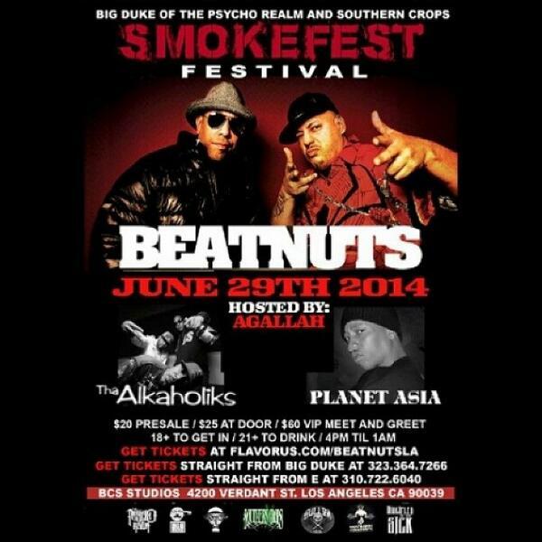 This weekend... #Beatnuts #Alkaholiks #PlanetAsia #Psychorealm #LA #antics http://t.co/7bxTMzmUdt