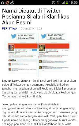 Ini soal akun @Rosianna766Hi yg dipalsukan utk kampanye Prabowo dng nama @rosisilalahi. Sngt tdk etis. http://t.co/ljMsuvcobX
