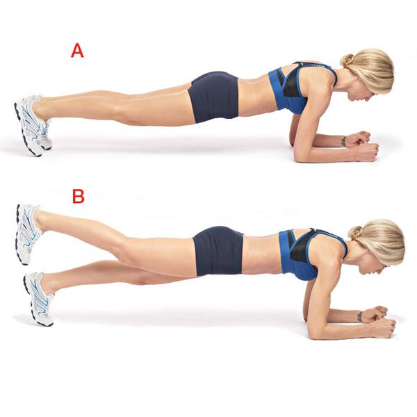 Si ya dominas el plank, puedes progresarlo quitando apoyos, ¿qué tal sobre una sola pierna? http://t.co/Y8PYUUepBu