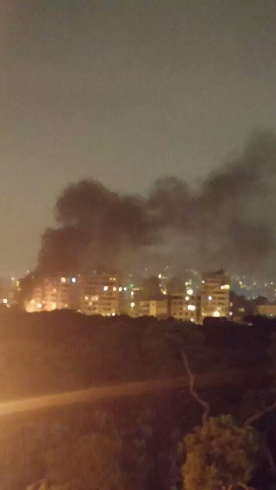 #breaking #news: explosion near a security check point in tayouneh area #beirut #lebanon black smoke rising http://t.co/EToTW11JG7