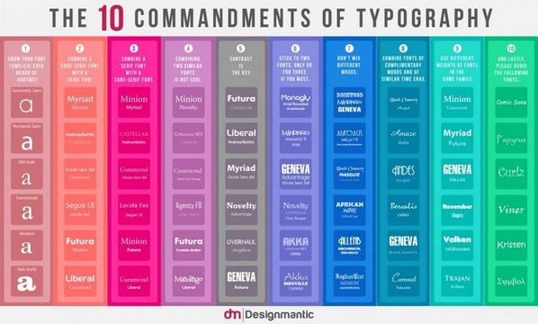 10 Commandments of #Type and #Color via @youthedesigner  http://t.co/n9r0rTD0QE http://t.co/22VmxudIw8