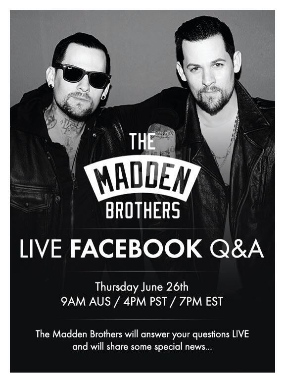 If u havn't already go chuck The @MaddenBrothers a Like on FaceBook :) They have some 'Special News' comin Thursday! http://t.co/lsnb3KmUB6