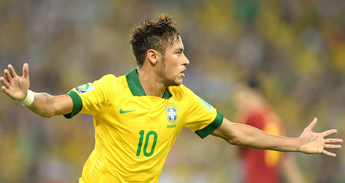 Neymar wears the no. 10 brazil jersey with pride which is ...
