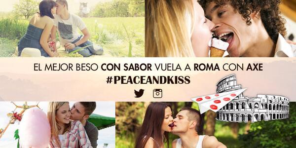 Dulces, salados… Sube tu beso con sabor y #peaceandkiss y podrás ganar un viaje a Roma, ¡mira! http://t.co/FR5ICuZek1 http://t.co/iBLPh15i0F