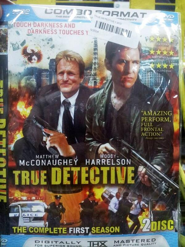 AMAZING PEFORM! MT @TheMattFowler True Detective bootleg DVD cover is everything that's right with bootleg DVD covers http://t.co/uktX6c3XY5