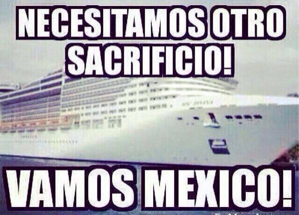 Venga!!! Ahora quién se apunta??? Quién dice Yo??? #MexicanosAlGritoDeOctavos #GanaroGanar http://t.co/HtTyAbTA8D