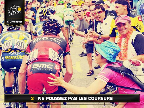 "Is this ""pushing"" or ""molesting""? ;) RT @letour ne poussez pas les coureurs / Please do not push the riders http://t.co/REMf6jdSYI"