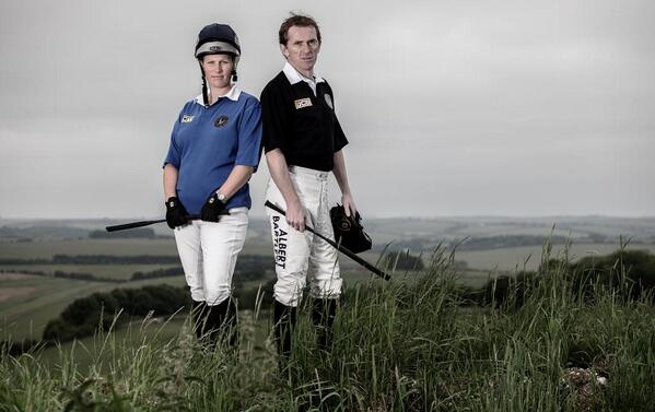 @AP_McCoy + Zara Phillips get ready for the JCB Champions Challenge for @IJF_official on 5 July @BarburyCastle http://t.co/FwNOiiT2dI