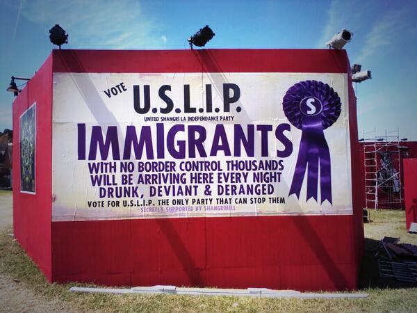 U.S.L.I.P. @ShangrilaGlasto http://t.co/tacuNmzQ0t