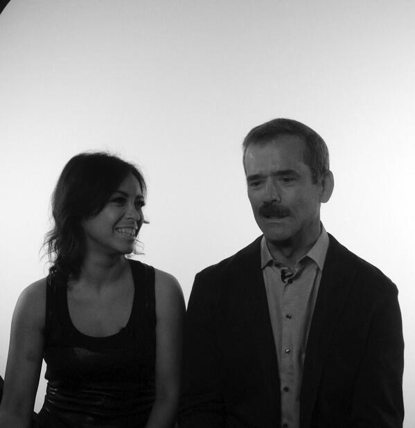 @Cmdr_Hadfield and I at @CBCMusic this morning! Thanks CBC for the constant love http://t.co/at2UlTa6vB