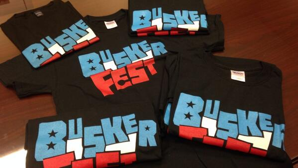 BuskerFest is Saturday! Retweet this for a chance to win a free t-shirt! We have several to give away! #BuskerFestFW http://t.co/ciIhAerbyH