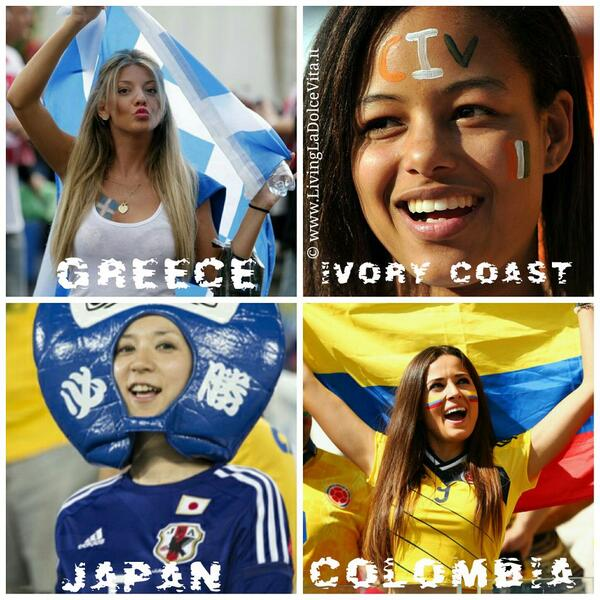 #GRE vs #CIV for the 2nd ticket in group C to the next round #COL vs #JPN seems a formality  #fangirls #FifaWorldCup http://t.co/dDLoaNAgiB