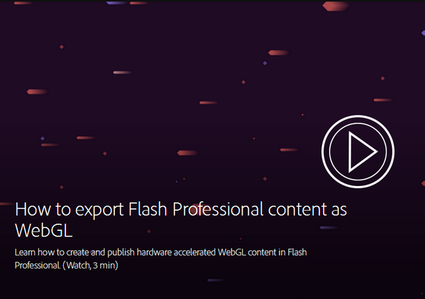 Publish animations in WebGL using the latest #FlashPro. Learn more: http://t.co/FIlaYWCL5H #CCNext http://t.co/CMDVRboNqr