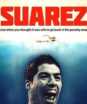 It's never safe!! Disgusting from #Suarez http://t.co/tgD32sg2Io