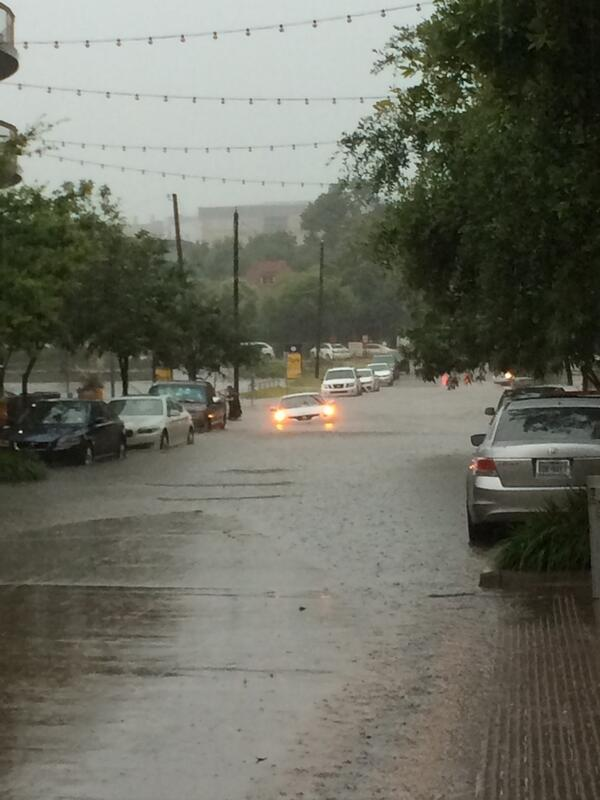 Significant street flooding is reported in Fort Worth, Texas; 3-hour ...
