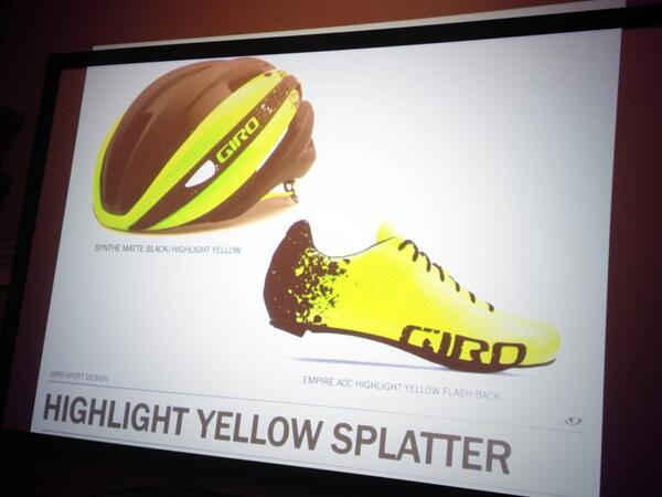 So good! @jayprasuhn: The @GiroSportDesign #girosynthe is to be paired with footwear in matching colorways. http://t.co/xfl1L3EVLv""