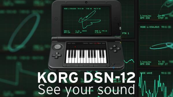 オシロ波形を見ながらの音作りが最高に楽しい!ニンテンドー3DSダウンロード専用ソフト「KORG DSN-12」本日配信開始しました。 http://t.co/HiNxcmxKc5 #korg http://t.co/Fm9VNd5y3V