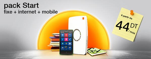 Orange Tunisie (@OrangeTN): Avec les packs start bénéficiez de remises sur votre facture globale: forfait Mix + Flybox http://t.co/oXjwWjTfi7 http://t.co/co1VOEy59C
