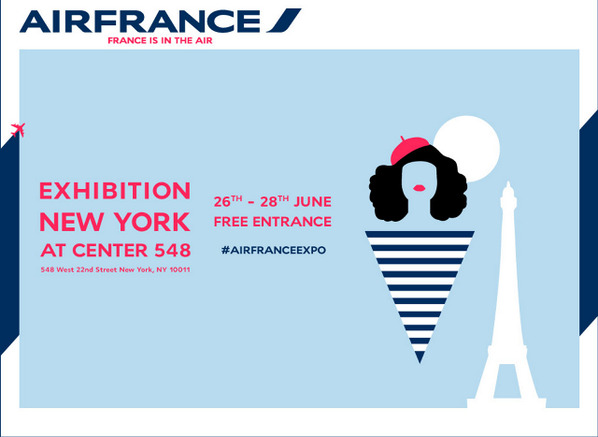 Remember :) #AirFranceExpo will be in #NYC from June 26 to 28 at Center 548! http://t.co/o38r2DkYN9 http://t.co/hIW1PvvgK9