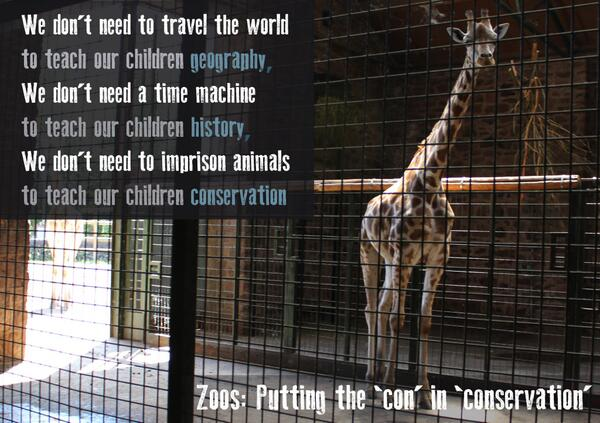 We don't need to imprison #animals to teach kids conservation any more than we need a time machine to teach history http://t.co/xRUDhh9nVO