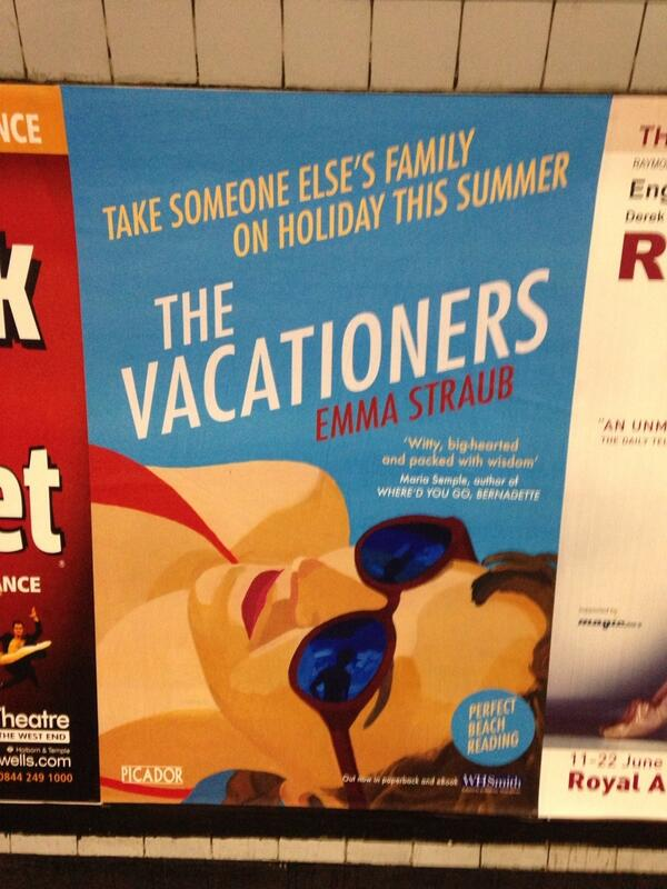 Holy cow! RT @picadorbooks: RT @SophieHJonathan: The Vacationers looking good in the  London tube! #summerread http://t.co/2Z0gLWvUqR