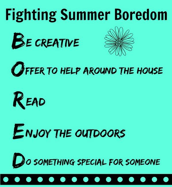 (Because 'Mom, I'm bored!' makes me crazy) The Art of Fighting Summer Boredom  http://t.co/VRJN0Pnl1N http://t.co/MiA6lB70Dr