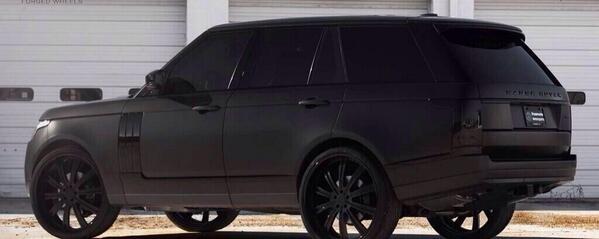 Matte Black Range Rover Scoopnest