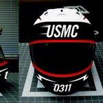 Custom sport bike motorcycle helmet design by http://t.co/pVSH5PCFTU for Marine Corps