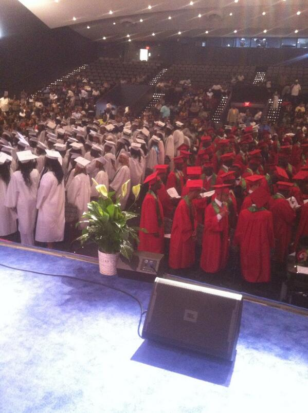 Congratulations @dcpublicschools HD Woodson Class of 2014. The largest number of graduates in 10yrs!!#success http://t.co/w6QxjJetRb