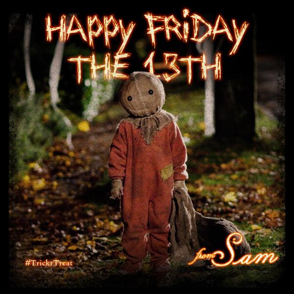 Sam will see you under the full moon tonight. #FridayThe13th http://t.co/XuK2HHhmUC