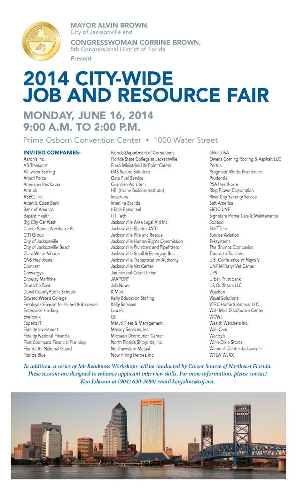 JOB SEEKERS: Bring your resume, dress for success & wear a smile to the Citywide Job & Resource Fair, June 16 http://t.co/kg3wEjae6E