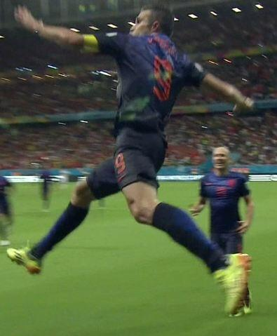 His Airness would be proud of Robin van Persie's goal celebration. #ESPvsNED http://t.co/up5aP3GBDY
