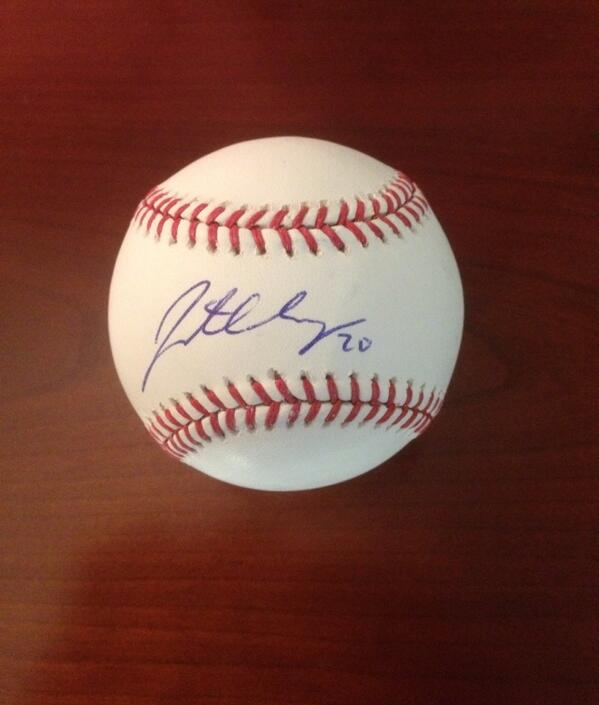RETWEET by 11:59 CT for your chance to win a ball signed by bday boy @JLucroy20! #whiff http://t.co/AEsJz515vz
