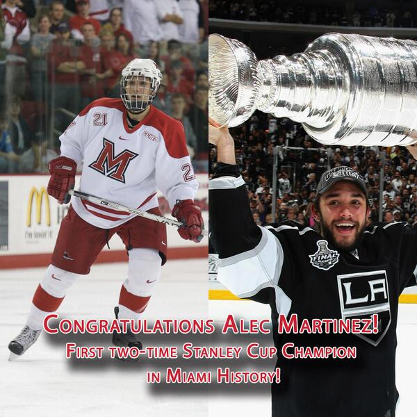What a way to become our first 2-time Stanley Cup champion @amartinez_27! #BecauseItsTheCup http://t.co/JfTGBlvGc5