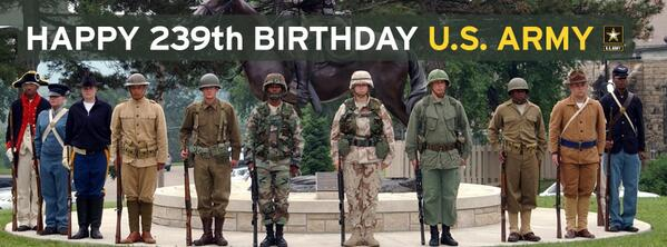 Over 239 years, the @USArmy has bravely defended America. Here's to Soldiers - past, present, & future. #ArmyBday http://t.co/2FU0gWfpZC
