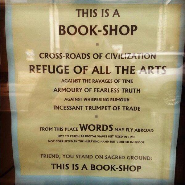 RT @hiddlestigress: This wins. Sign in Oxford, UK. #Bibliophiles  Via @magnacarta13 cc @mr_wheatley http://t.co/LDm3TnK1pJ