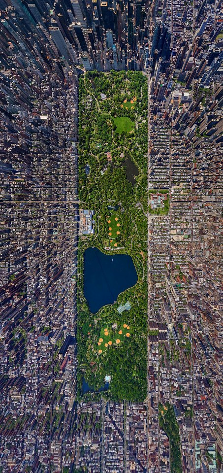 Aerial View of Central Park, New York: http://t.co/OlA5LuiYHx