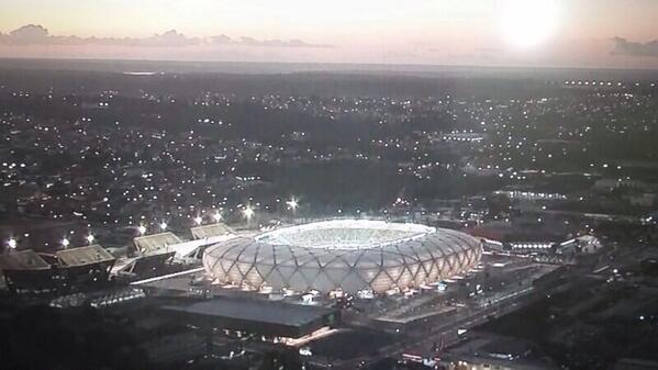 Vista aérea da Arena da Amazônia agora http://t.co/xzl5OtO0p6